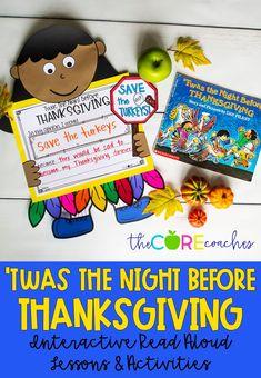 #twasthenightbeforethanksgiving #twasthenightbeforechristmas #twasthenightbeforethanksgivinglessonplan #thecorecoaches #thanksgivingreadaloud