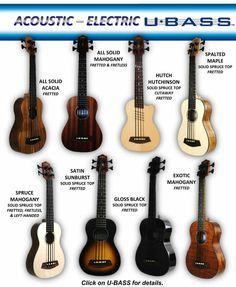 The Kala U-Bass Acoustic Electric - sounds like a stand up bass, and looks like a ukulele!