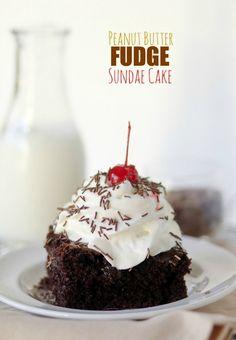 Peanut Butter Fudge Sundae Cake