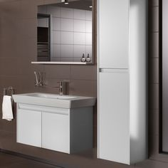 Vitra Step Beyaz Set Banyo Dolabı 85 cm - Koçtaş Bathroom Sink Design, Bathroom Cabinets, Bathroom Furniture, Toilet Vanity, Home Organization, Double Vanity, Home Decor, Vanities, Salons