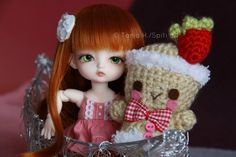 Our little girls would love this collection. While working on an article for a website I am writing for, I saw these cute dolls. These are kid dolls and they are soooo adorable! Child Doll, Cute Dolls, Bjd, Little Girls, Alice, Crochet Hats, Christmas Ornaments, Holiday Decor, Pink