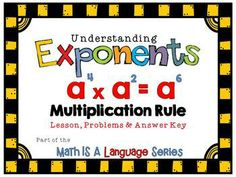 A free lesson on the multiplication rule for exponents