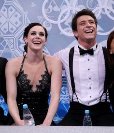 Tessa & Scott - Sochi 2014Their love of the support and each other so apparent.  Very nice.