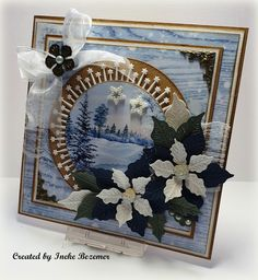 """Ineke""""s Creations Christmas 2019, Christmas Themes, Christmas Cards, Poinsettia Cards, Marianne Design, Cardmaking, Scrap, Texture, Winter"""