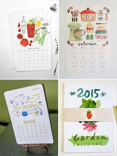 Food & Drink-Themed 2015 Calendars