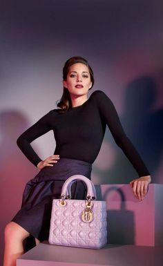 Marion Cotillard per Lady Dior - #bag #dior #ladydior #pink