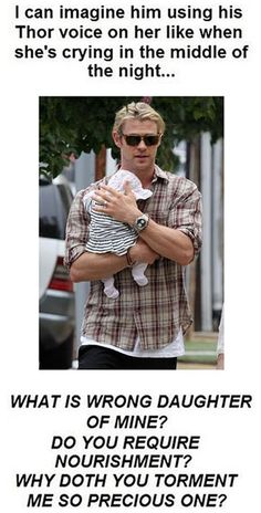 but also this picture of him as a dad with his baby girl is melting my heart <3