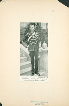 Lieutenant-Colonel J.C.F. Gordon Commanding Officer 6th Bengal Cavalry. Lead the Regiment on the North West Frontier in 1897 and 98, first as part of the Kurram Movable Column and then the Tirah Expeditionary Force.