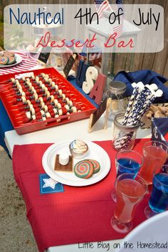 Nautical Themed 4th of July Dessert Bar