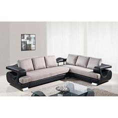 2-Piece Sectional in Black and Gray | Nebraska Furniture Mart