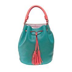 Bucket tuerkis coral Bucket Bag, Coral, Bags, Fashion, Schmuck, Handbags, Moda, Fashion Styles, Fashion Illustrations
