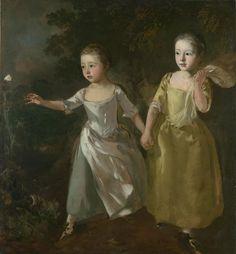Томас Гейнсборо - Портрет дочерей, преследующих бабочку