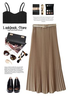 """""""Maxi skirt."""" by yexyka ❤ liked on Polyvore featuring CENA, LORAC, Moleskine, Boohoo, Burberry, Robert Clergerie and Iman"""
