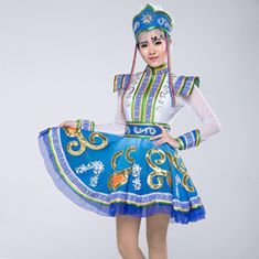 Traditional dressed girls & young women from Mongolia. The Mongol belongs to the Altai-Branch of the great Turan Family. Located: Central-Turan
