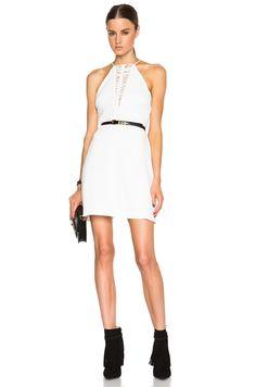Image 1 of Zimmermann Crepe Braid Dress in Winter White