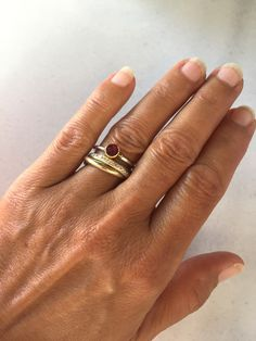 Lovely combination, Cartier style wedding ring with a gemstone ring 😻 Gold And Silver Rings, Cartier, 18k Gold, Gemstone Rings, Rings For Men, Wedding Rings, Gemstones, Sterling Silver, Handmade
