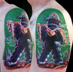 Forbidden Planet Tattoo by Cecil Porter