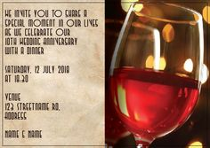 AI_016 Anniversary Invitations, Invite, Monkey, Alcoholic Drinks, Food, Playsuit, Alcoholic Beverages, Meal, Birthday Invitations