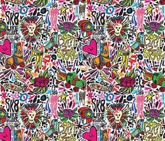 BORN 2 SK8 fabric by gsonge on Spoonflower - custom fabric