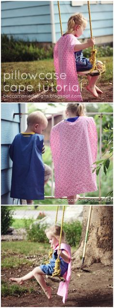 Pillowcase Cape Tutorial by Becca Marie