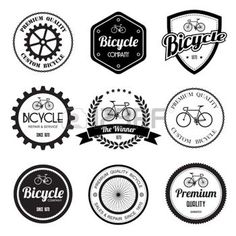 bike icon: Set of  bicycle retro vintage badges and labels.eps10  Illustration