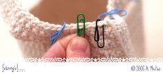 futuregirl craft blog : Tutorial: Paper Clip Stitch Markers ♡ Teresa Restegui http://www.pinterest.com/teretegui/ ♡