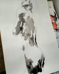 First stage of my process applying fluid ink to achieve happy accidents. #fineart #drawings #illustration #fashion #contemporaryart #inks #paper #figurestudy #thebody #nude #expressive #creative #inspiration #artoftheday #picoftheday #instaart #artistoninstagram http://ift.tt/2es9akz