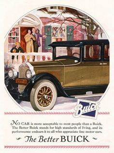 Buick Automobile The Better Family | Mad Men Art | Vintage Ad Art Collection