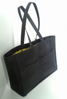 Cork shopper LE CABAS black Marina Kleist | Kork Tasche groß schwarz