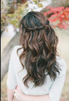 The braid in the back makes the whole hairstyle come together! These perfect curls are great for a fun day with friends and family!