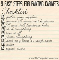 9 Easy Steps for Painting Cabinets! Painting cabinets can be overwhelming, but doesn't have to be!