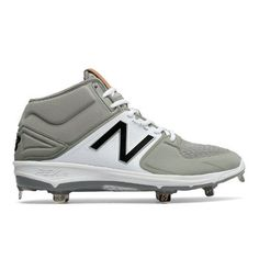 Mid-Cut 3000v3 Metal Cleat Men's Mid-Cut Cleats Shoes - Grey/White (M3000GW3)