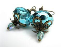 Aqua Dangle Earrings