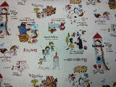 All fairy tales ecru 1/2 yard cotton linen blended by lisahestore