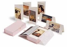 25 greeting cards with envelopes featuring a selection of images from Japanese Ukiyo-e prints.  Includes masterpieces by such artists as Hokusai, Hiroshige and Utamaro.