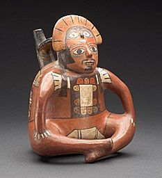 Vessel in the Form of a Seated Ruler Nazca