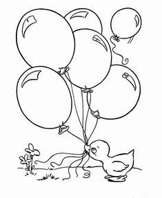 luftballons 15 ausmalbilder für kinder. malvorlagen zum