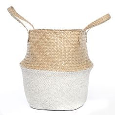 Intratuin mand zeegras D 31 H 30 cm naturel / wit Basket Weaving, My Room, New Homes, House, Products, Home, Homes, Gadget, Houses