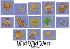 Embroidery Designs | Free Machine Embroidery Designs | JuJu Wild West