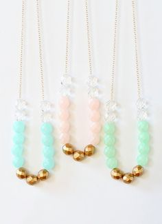 Pastel Beaded Strand Necklace
