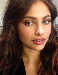 Soft makeup and big brows