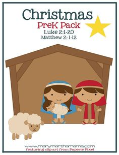 These free Christmas worksheets for preschoolers feature 28 pages of activities that help children learn the story of Jesus' birth. Preschool Christmas Activities, Christmas Worksheets, Preschool Lessons, Christmas Crafts For Kids, Christmas Themes, Preschool Activities, Celebrating Christmas, Christmas Program, Preschool Bible