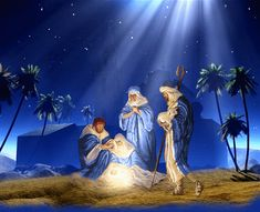 ... So Joseph also went up from the town of Nazareth in Galilee to Judea, to Bethlehem the town of David, because he belonged to the house and line of David. He went there to register with Mary, who was pledged to be married to him and was expecting a child. While they were there, the time came for the baby to be born, and she gave birth to her firstborn, a son. She wrapped him in cloths and placed him in a manger, because there was no guest room available for them. [ Luke 2:4-7 NIV ]