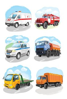 Сообщество иллюстраторов   Иллюстрация Любомир Бейгер - специальный транспорт. Детский. Растровая (цифровая) графика