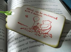 Winnie The Pooh Gift Tag by Sweetturquoise on Etsy, $6.00