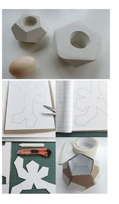 Home Decorating Ideas For Cheap Gipsgießform aus altem Karton / Mould for cement art made of old cardboard / Up. Home Design Ideas: Home Decorating Ideas For Cheap Home Decorating Ideas For Cheap Gipsgießform aus altem Karton / Mou Cement Art, Concrete Crafts, Concrete Art, Concrete Projects, Concrete Molds, Concrete Planters, Diy Projects To Try, Craft Projects, Diy Y Manualidades