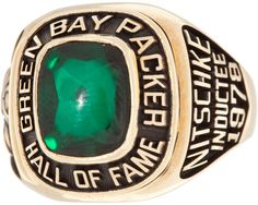 The Wearing Of the Green (and Gold): Ray Nitschke's Packer Hall of Fame ring (Class of '78)