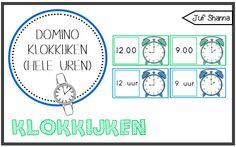 Juf Shanna: Domino klokkijken - hele uren