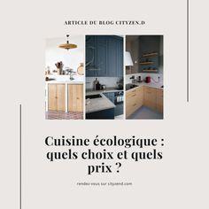 Cuisine écologique : quels choix et quels prix ? Cuisines Diy, Tadelakt, Tall Cabinet Storage, Articles, Furniture, Home Decor, Kitchen Planning, Kitchen Modern, Decoration Home