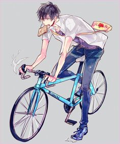 Yowamushi Pedal : Photo shared by ىнιzυ-¢нαη ☊ Manga Boy, Manga Anime, Anime Art, Manga Japan, Yowamushi Pedal, Anime School Girl, Anatomy Poses, Bicycle Art, Bike